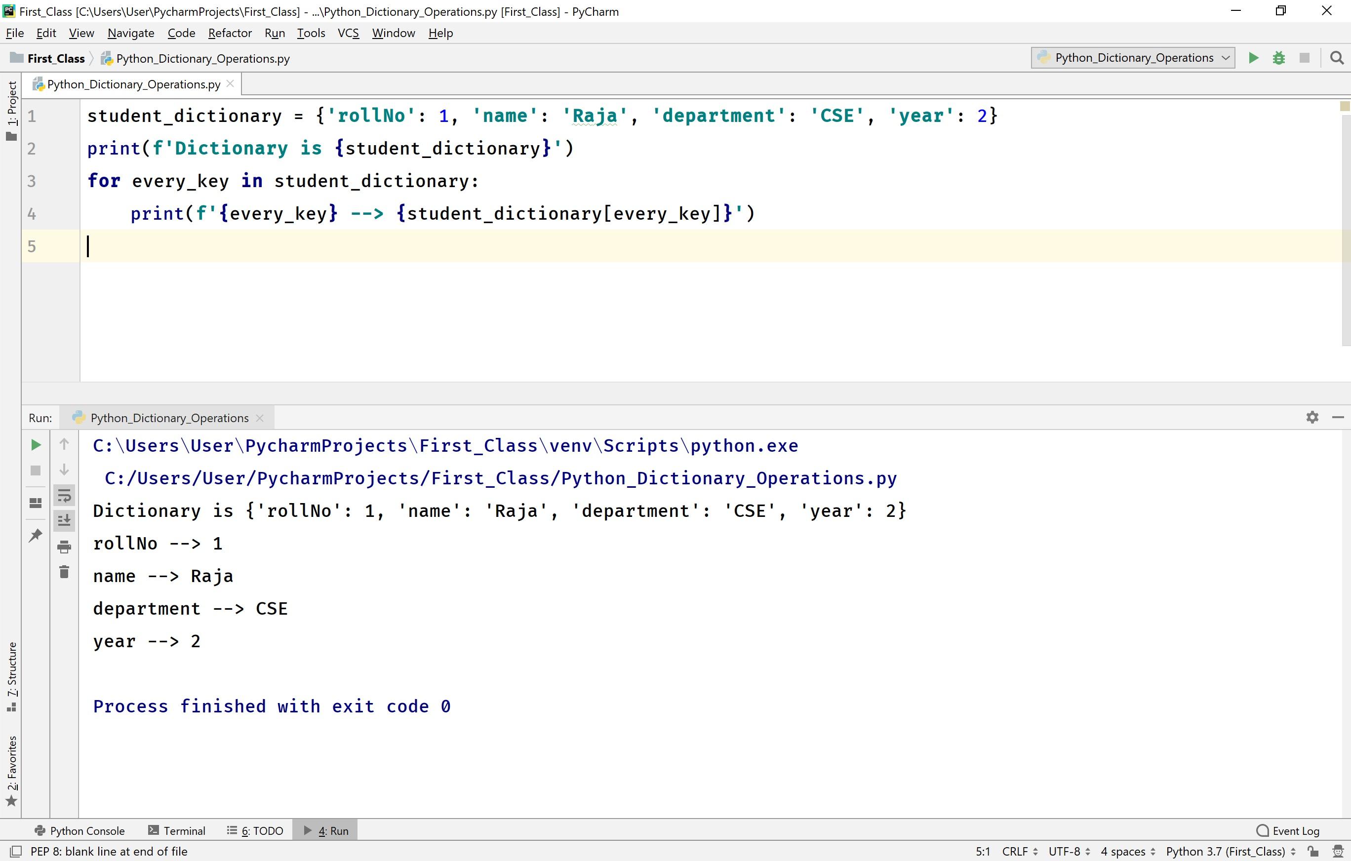 Python Tutorials Dictionary Data Structure Data Types